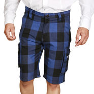 Sparrow Clothings Cotton Cargo Shorts_wjcrsht13 - Blue