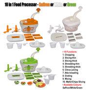 10 in 1 Food Processor - Saffron or White or Green