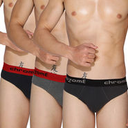 Pack of 3 Chromozome Regular Fit Briefs For Men_10179 - Multicolor