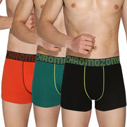 Pack of 3 Chromozome Regular Fit Trunks For Men_10239 - Multicolor
