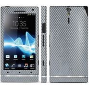 Snooky Mobile Skin Sticker For Sony Xperia S - Silver