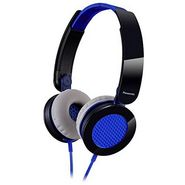 Panasonic RP-HXS200E-A Stylish Stereo Headphone with Compact Folding Mechanism - Blue
