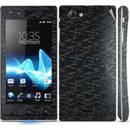 Snooky Mobile Skin Sticker For Sony Xperia J 20810 - Black