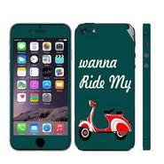 Snooky 28350 Digital Print Mobile Skin Sticker For Apple Iphone 5 - Green