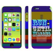 Snooky 28372 Digital Print Mobile Skin Sticker For Apple Iphone 5C - Multi