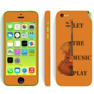 Snooky 28394 Digital Print Mobile Skin Sticker For Apple Iphone 5C - Orange