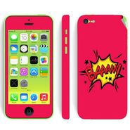 Snooky 28383 Digital Print Mobile Skin Sticker For Apple Iphone 5C - Pink