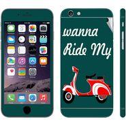 Snooky 28404 Digital Print Mobile Skin Sticker For Apple Iphone 6 - Green