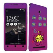 Snooky 27682 Digital Print Mobile Skin Sticker For Asus Zenfone 6 A600CG/A601CG - Purple