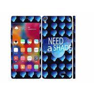 Snooky 27707 Digital Print Mobile Skin Sticker For Gionee Elife 5.1 - Blue