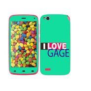 Snooky 27723 Digital Print Mobile Skin Sticker For Gionee Elife E3 - Green