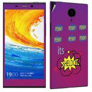 Snooky 27790 Digital Print Mobile Skin Sticker For Gionee Elife E7 - Purple