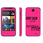 Snooky 27806 Digital Print Mobile Skin Sticker For HTC Desire 310 - Pink