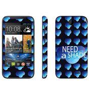 Snooky 27815 Digital Print Mobile Skin Sticker For HTC Desire 310 - Blue