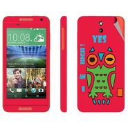 Snooky 28093 Digital Print Mobile Skin Sticker For HTC Desire 610 - Rose Pink