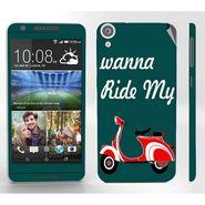 Snooky 28107 Digital Print Mobile Skin Sticker For HTC Desire 820 - Green