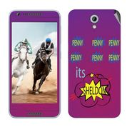 Snooky 28227 Digital Print Mobile Skin Sticker For HTC Desire 820 mini - Purple