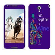 Snooky 28219 Digital Print Mobile Skin Sticker For HTC Desire 820 mini - Purple
