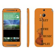Snooky 28151 Digital Print Mobile Skin Sticker For HTC One M8 - Orange
