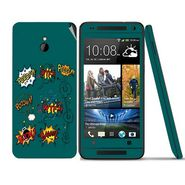 Snooky 28298 Digital Print Mobile Skin Sticker For HTC One mini - Green