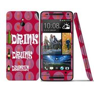 Snooky 28292 Digital Print Mobile Skin Sticker For HTC One mini - Pink