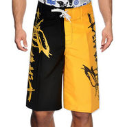 Billabong Poly Cotton  Printed Shorts_bysht1 - Yellow