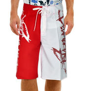 Billabong Poly Cotton  Printed Shorts_bysht3 - Red & White