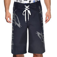 Billabong Poly Cotton  Printed Shorts_bysht4 - Navy Blue