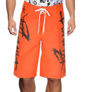 Billabong Poly Cotton  Printed Shorts_bysht6 - Orange & Black