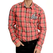 Branded Cotton Shirt_Jjrdbl - Red Black