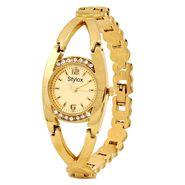Stylox Round Dial Analog Watch_whstx505 - Golden