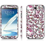Snooky 38806 Digital Print Mobile Skin Sticker For Samsung Galaxy Note 2 N7100 - Pink