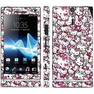 Snooky 38825 Digital Print Mobile Skin Sticker For Sony Xperia S - Pink