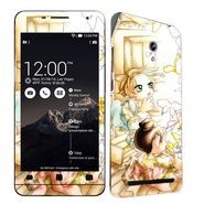 Snooky 38849 Digital Print Mobile Skin Sticker For Asus Zenfone 6 A600CG/A601CG - White
