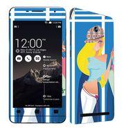 Snooky 38855 Digital Print Mobile Skin Sticker For Asus Zenfone 6 A600CG/A601CG - Blue