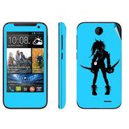 Snooky 38914 Digital Print Mobile Skin Sticker For HTC Desire 310 - Blue
