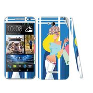 Snooky 38975 Digital Print Mobile Skin Sticker For HTC Desire 616 - Blue