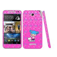 Snooky 38979 Digital Print Mobile Skin Sticker For HTC Desire 616 - Pink