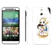 Snooky 39001 Digital Print Mobile Skin Sticker For HTC One E8 - White
