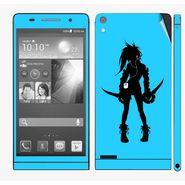 Snooky 39034 Digital Print Mobile Skin Sticker For Huawei Ascend P6 - Blue