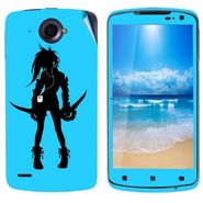 Snooky 39118 Digital Print Mobile Skin Sticker For Lenovo S920 - Blue