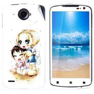 Snooky 39121 Digital Print Mobile Skin Sticker For Lenovo S920 - White