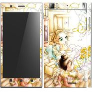 Snooky 39137 Digital Print Mobile Skin Sticker For Lenovo K900 - White