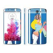 Snooky 39155 Digital Print Mobile Skin Sticker For LG G3 Stylus - Blue