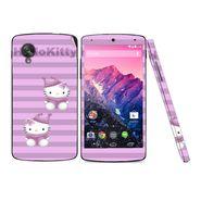 Snooky 39163 Digital Print Mobile Skin Sticker For LG Google Nexus 5 - Purple