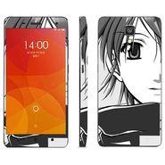Snooky 39206 Digital Print Mobile Skin Sticker For Xiaomi Mi4 - Gray