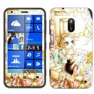 Snooky 39245 Digital Print Mobile Skin Sticker For Nokia Lumia 620 - White