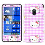 Snooky 39248 Digital Print Mobile Skin Sticker For Nokia Lumia 620 - Pink
