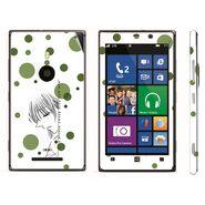Snooky 39285 Digital Print Mobile Skin Sticker For Nokia Lumia 925 - White