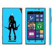 Snooky 39286 Digital Print Mobile Skin Sticker For Nokia Lumia 925 - Blue